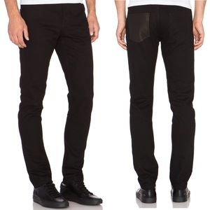 T by Alexander Wang Leather Back Pocket Jeans